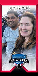 Tonda attended Lockhead Martin Armed Forces Bowl - NCAA Football on Dec 22nd 2018 via VetTix