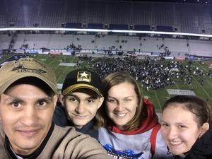 Jessica attended Lockhead Martin Armed Forces Bowl - NCAA Football on Dec 22nd 2018 via VetTix