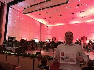 Bryan attended The Phoenix Symphony - Holiday Pops - Saturday Matinee on Dec 1st 2018 via VetTix