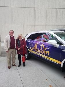 Susan attended Disney's Aladdin - Des Moines Performing Arts - Matinee on Nov 29th 2018 via VetTix