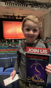 Joshua R attended Disney's Aladdin - Des Moines Performing Arts - Matinee on Nov 29th 2018 via VetTix