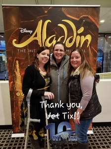 Ashley attended Disney's Aladdin - Des Moines Performing Arts - Matinee on Nov 29th 2018 via VetTix