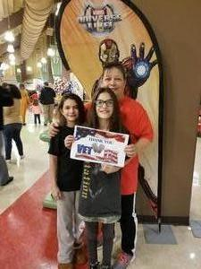 Debra attended Marvel Universe Live! Age of Heroes on Feb 7th 2019 via VetTix