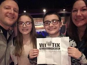 Mark attended Terry Fator on Nov 30th 2018 via VetTix