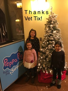 Yvonne attended Peppa Pig Live! on Dec 12th 2018 via VetTix