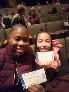 Chauvonne attended A Colorado Nutcracker Performed by Colorado Ballet Society - Saturday Matinee on Dec 22nd 2018 via VetTix
