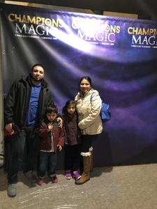 German attended Champions of Magic on Dec 7th 2018 via VetTix