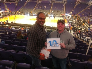 Scott B. attended Phoenix Suns vs. Sacramento Kings - NBA on Dec 4th 2018 via VetTix