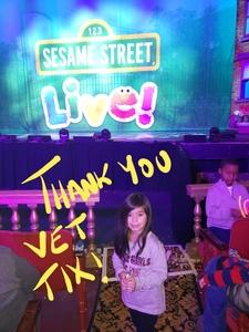 Rene attended Sesame Street Live! Make Your Magic on Jan 10th 2019 via VetTix