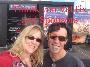 Clint and Angela attended Supercross Futures on Jan 13th 2019 via VetTix