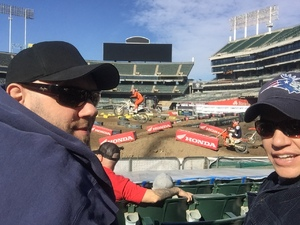 Ethan attended Supercross Futures - Motorsports/racing on Jan 27th 2019 via VetTix