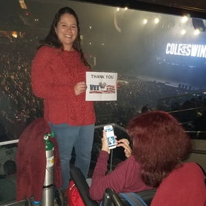 Joyce attended Cole Swindell and Dustin Lynch - Reason to Drink Another Tour on Dec 8th 2018 via VetTix
