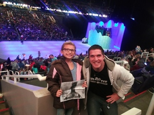 Zachary attended Disney on Ice Presents Dare to Dream on Jan 17th 2019 via VetTix