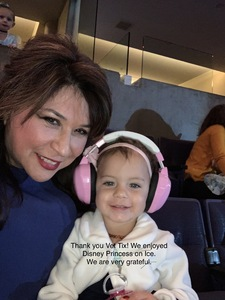 Suzanna attended Disney on Ice Presents Dare to Dream on Jan 17th 2019 via VetTix
