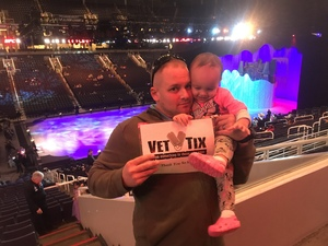 thomas attended Disney on Ice Presents Dare to Dream on Jan 17th 2019 via VetTix