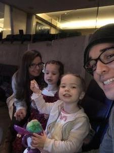 Bryan attended Disney on Ice Presents Dare to Dream on Jan 17th 2019 via VetTix