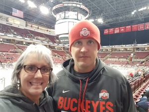 Rebecca attended Ohio State Buckeyes vs. University of Michigan Yellow Jackets - NCAA Hockey on Jan 11th 2019 via VetTix