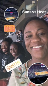 Kimberly attended Phoenix Suns vs. Miami Heat - NBA on Dec 7th 2018 via VetTix
