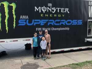 Johnny attended Monster Energy Supercross - Motorsports/racing on Apr 6th 2019 via VetTix