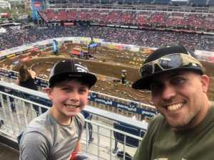 Seth attended Monster Energy Supercross - Motorsports/racing on Apr 6th 2019 via VetTix