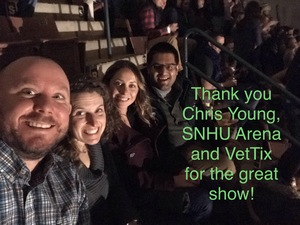Corey attended Chris Young: Losing Sleep World Tour 2018 - Country on Dec 8th 2018 via VetTix