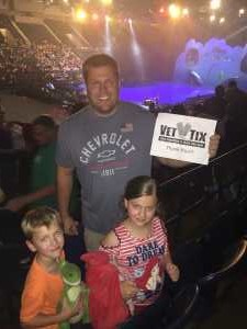 Justin attended Disney on Ice Presents: Mickey's Search Party on May 16th 2019 via VetTix