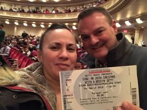 catherine attended Sing! An Irish Christmas With Keith & Kristyn Getty, Tim Keller, Phil Keaggy, John Patitucci, Andrew Nemr, Sullivan Fortner, the Times Square Chur on Dec 13th 2018 via VetTix