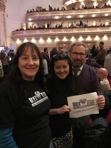 CindyEW attended Sing! An Irish Christmas With Keith & Kristyn Getty, Tim Keller, Phil Keaggy, John Patitucci, Andrew Nemr, Sullivan Fortner, the Times Square Chur on Dec 13th 2018 via VetTix