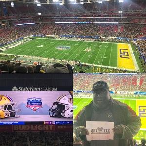 John Graves attended Playstation Fiesta Bowl - Louisiana State University vs. University of Central Florida on Jan 1st 2019 via VetTix