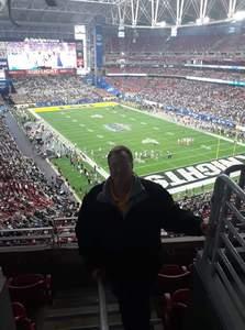 Maxie attended Playstation Fiesta Bowl - Louisiana State University vs. University of Central Florida on Jan 1st 2019 via VetTix