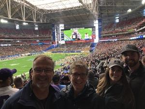 Ann attended Playstation Fiesta Bowl - Louisiana State University vs. University of Central Florida on Jan 1st 2019 via VetTix
