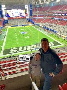 Glenn attended Playstation Fiesta Bowl - Louisiana State University vs. University of Central Florida on Jan 1st 2019 via VetTix