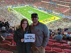 Conn attended Playstation Fiesta Bowl - Louisiana State University vs. University of Central Florida on Jan 1st 2019 via VetTix
