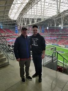 Frank attended Playstation Fiesta Bowl - Louisiana State University vs. University of Central Florida on Jan 1st 2019 via VetTix