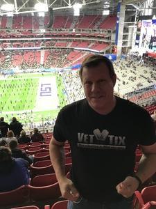Andy attended Playstation Fiesta Bowl - Louisiana State University vs. University of Central Florida on Jan 1st 2019 via VetTix