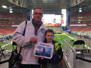 Louis attended Playstation Fiesta Bowl - Louisiana State University vs. University of Central Florida on Jan 1st 2019 via VetTix
