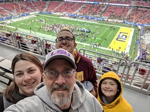 William attended Playstation Fiesta Bowl - Louisiana State University vs. University of Central Florida on Jan 1st 2019 via VetTix