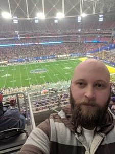 colby attended Playstation Fiesta Bowl - Louisiana State University vs. University of Central Florida on Jan 1st 2019 via VetTix