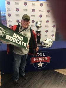 JP attended Dxl Frisco Bowl - San Diego State University vs. Ohio University on Dec 19th 2018 via VetTix