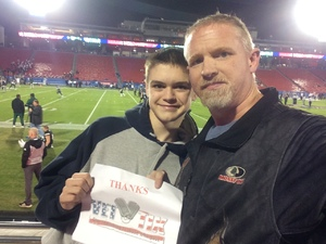 Patrick attended Dxl Frisco Bowl - San Diego State University vs. Ohio University on Dec 19th 2018 via VetTix