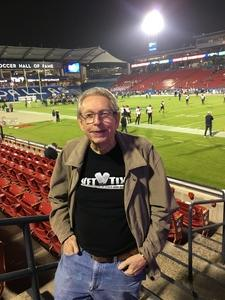 Terry attended Dxl Frisco Bowl - San Diego State University vs. Ohio University on Dec 19th 2018 via VetTix