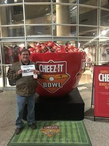 Jack attended Cheez-it Bowl - California Golden Bears vs. TCU Horned Frogs on Dec 26th 2018 via VetTix