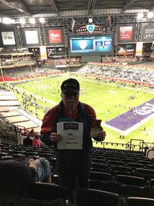 Larry attended Cheez-it Bowl - California Golden Bears vs. TCU Horned Frogs on Dec 26th 2018 via VetTix