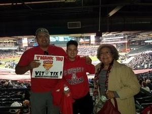 Hector attended Cheez-it Bowl - California Golden Bears vs. TCU Horned Frogs on Dec 26th 2018 via VetTix