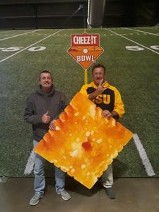 Maxie attended Cheez-it Bowl - California Golden Bears vs. TCU Horned Frogs on Dec 26th 2018 via VetTix