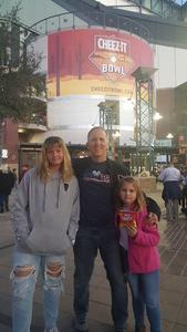 Mark T. attended Cheez-it Bowl - California Golden Bears vs. TCU Horned Frogs on Dec 26th 2018 via VetTix