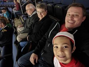 Damon attended Allen Americans vs. Cincinnati Cyclones - Minor League on Dec 22nd 2018 via VetTix