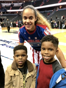 Teisha attended Harlem Globetrotters on Dec 26th 2018 via VetTix