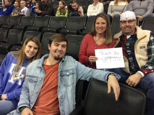 Winston attended Harlem Globetrotters on Dec 26th 2018 via VetTix