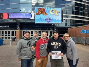 Craig attended Quick Lane Bowl: Minnesota vs. Georgia Tech - NCAA on Dec 26th 2018 via VetTix